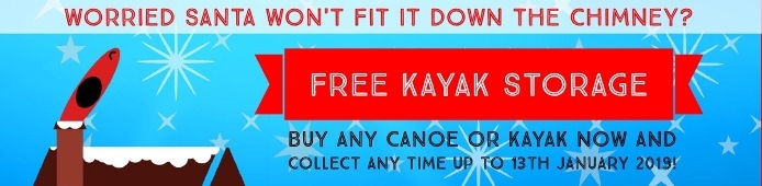 Christmas Gift Free Kayak and Canoe Storage From Canoe Shops Group