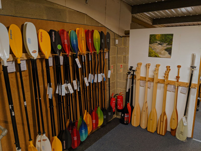 Bournemouth Canoes stock a wide range of kayak paddles and canoe paddles