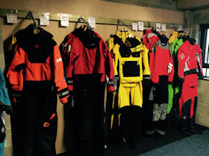 Our Drysuit room at Bournemouth Canoes