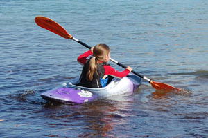 Kayaks for children from Bournemouth Canoes