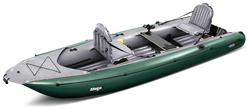 Gumotex Alfonso Inflatable 2 Person Sit In Fishing Kayak Able to Take a Small Engine
