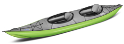 Gumotex Swing 2 Sit in Side Tandem Inflatable Kayak For Easy Touring