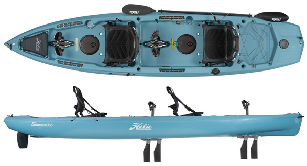 Hobie Kayaks Compass Duo budget tandem mirage drive pedal sit on top kayak