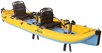 Hobie I14t Inflatable Tandem Kayak With Pedal Mirage Drive