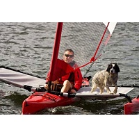 Hobie AI/TI Tramp Sets Use The Space Between the Outriggers For Storage or Small Passengers