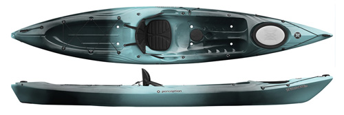Perception Triumph 13 Touring Sit On Top Kayak Also Good For Fishing