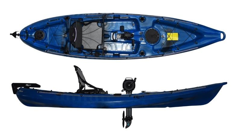 Riot Mako 12 Impulse Pedal Drive Sit On Top Kayak | Fishing