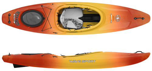 Wavesport Ethos 9 & 10 crossover kayak for flat water and whitewater kayaking