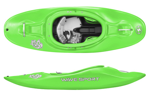 Wavesport Fuse 35 kids kayak for river running playboat from Bournemouth Canoes